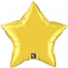 "Gold Star Foil Balloon (36"") 1pc"